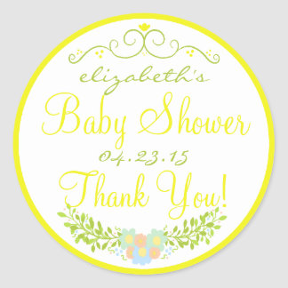 Baby Shower- Floral Stickers
