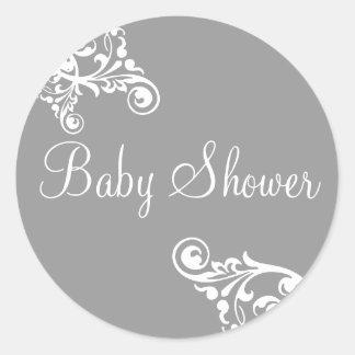 Baby Shower Flourish Envelope Sticker Seal