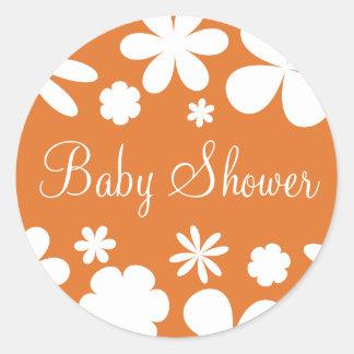 Baby Shower Flower Power Envelope Sticker Seal