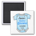 Baby shower for baby boy refrigerator magnet