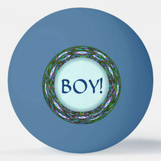 Baby Shower Game! Boy or Girl? Team Boy! Ping Pong Ball