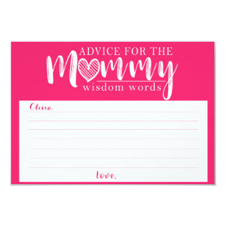 Baby Shower Games Advice Cards for Mom To Be