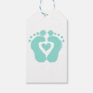 Baby shower gifts baby foot gift tags