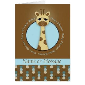 Baby Shower Giraffe Template