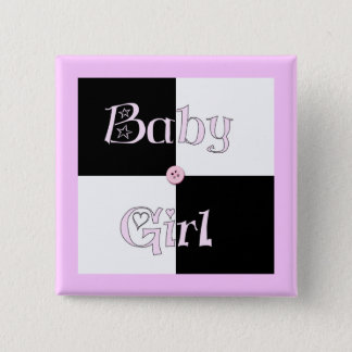 Baby Shower Girl 2 Inch Square Button