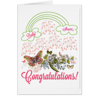 Baby Shower Girl Congratulations Card