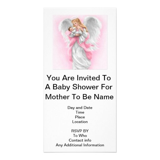 Baby Shower (Girl) Personalized Photo Card