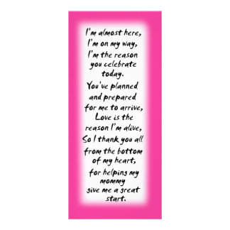 Baby shower girl place cards inspirational quotes full color rack card