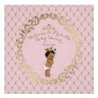 Baby Shower GIRL,Soft pink & gold,royal background Poster