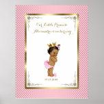 Baby Shower Girl, white pink,elegant,32x41,6 300pp Poster