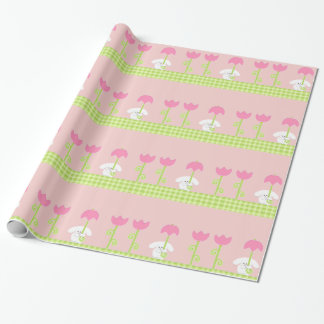 baby shower girl wrapping paper