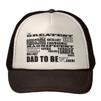 Baby Shower Greatest Best Future Fathers Dad to Be Trucker Hat