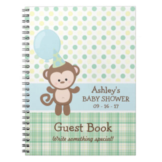 Baby Shower Guest Book - Monkey Note Book