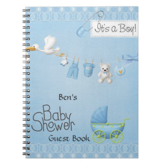 Baby Shower Guest Book Spiral Note Books