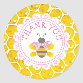Baby Shower Honeybee Thank You Honeycomb Stickers
