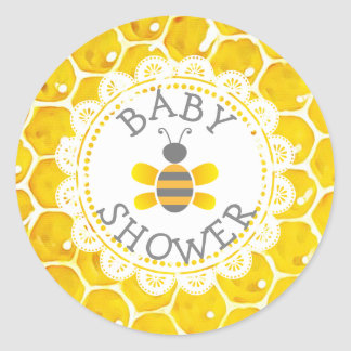 Baby Shower Honeybee Themed Honeycomb Stickers