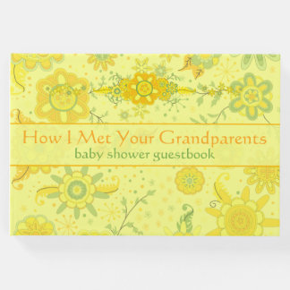 "Baby Shower ""How I Met Your Grandparents"" Yellow Guest Book"