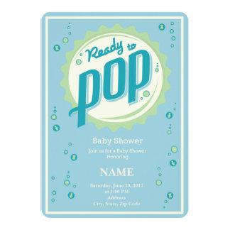 Baby Shower Invitation (Boy) - Ready to Pop