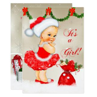 Baby Shower Invitation, Christmas Baby Shower Card