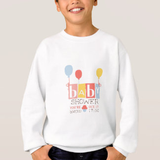 Baby Shower Invitation Design Template With Balloo Sweatshirt