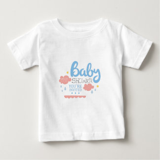 Baby Shower Invitation Design Template With Clouds Baby T-Shirt