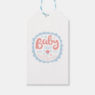 Baby Shower Invitation Design Template With Cupcak Gift Tags