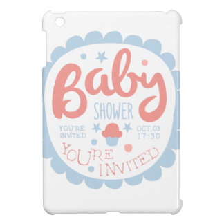 Baby Shower Invitation Design Template With Cupcak iPad Mini Case