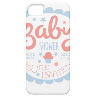 Baby Shower Invitation Design Template With Cupcak iPhone 5 Case