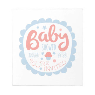 Baby Shower Invitation Design Template With Cupcak Notepad
