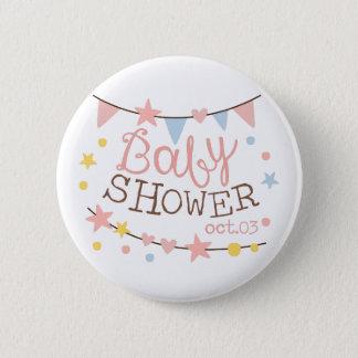 Baby Shower Invitation Design Template With Garlan 2 Inch Round Button