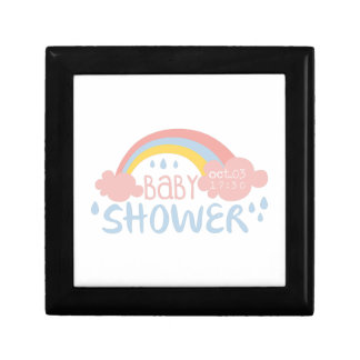 Baby Shower Invitation Design Template With Rainbo Gift Box