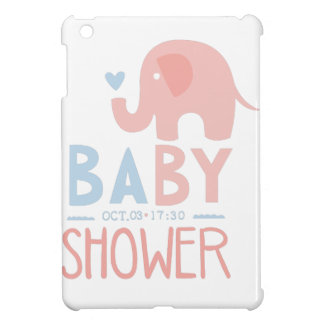 Baby Shower Invitation Design Template With Toy El Case For The iPad Mini