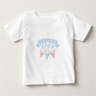 Baby Shower Invitation Design Template With Umbrel Baby T-Shirt