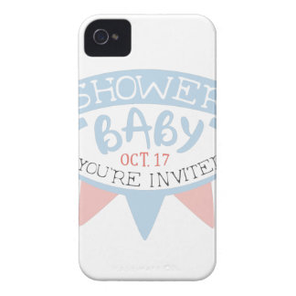 Baby Shower Invitation Design Template With Umbrel iPhone 4 Cover