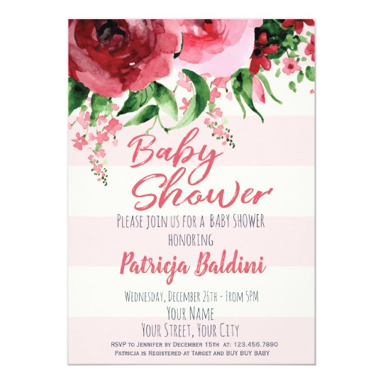 Baby Shower Invitation Floral