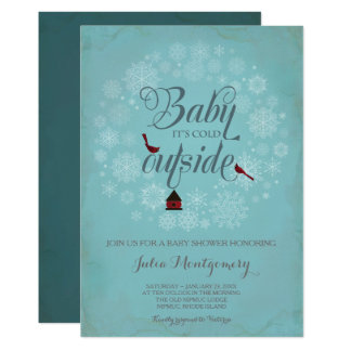 Baby Shower Invitation ~ It's Cold Outside