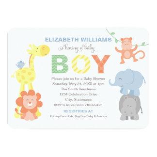 Baby Shower Invitation | Jungle Animals for Boy invitations