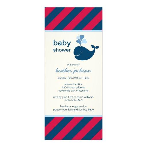 Baby Shower Invitation | Nautical Preppy Whale Invitations