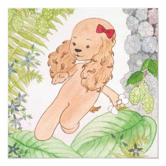 Baby Shower Invitation - Puppy running