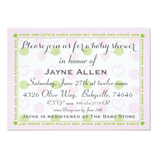 "Baby Shower Invitation ""Sugar and Spice"""