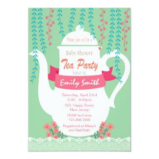 Baby Shower Invitation. Tea Party Invitation