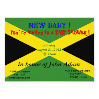 Baby Shower Invitation with Flag of Jamaica