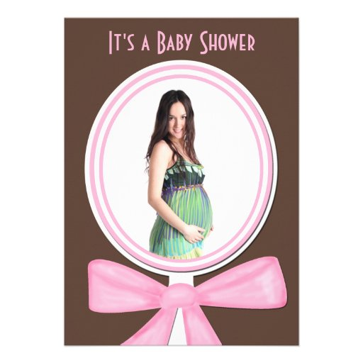 Baby Shower Invitation with Photo or Picture Custom Invite