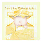 BABY SHOWER  INVITATION YELLOW