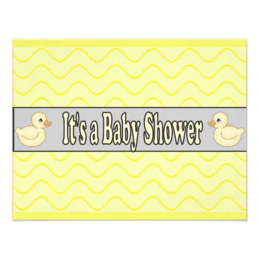 Baby shower invitation yellow ducks Personalize it