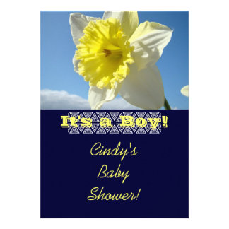 Baby Shower Invitations Daffodils It s a Boy Card