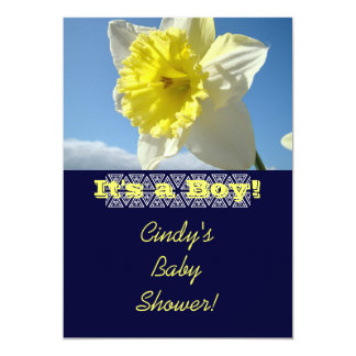Baby Shower Invitations Daffodils It's a Boy! Card