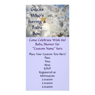 Baby Shower Invitations Guess who s Having a Boy Customized Photo Card
