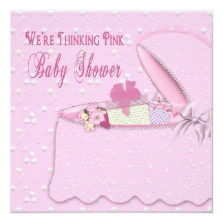 Baby Shower Invitations - Thinking Pink