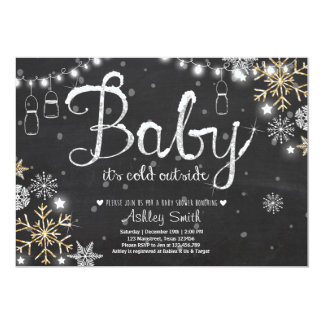 Baby Shower invite Baby it's cold outside